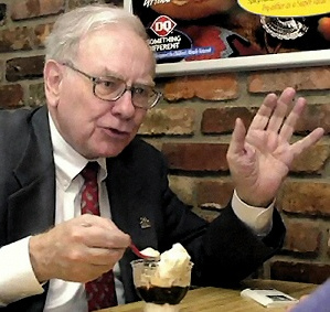 buffett eating chocolate ice cream
